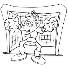 soccer coloring worried goalkeeper