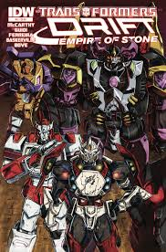 the transformers the transformers drift empire of stone volume comic vine