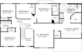 five bedroom floor plans 5 bedroom floor plans one single house plans with 5