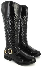 womens knee high boots sale uk womens black patent flat casual knee high boots size