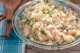 creamy pasta salad recipe sausage broccoli cheddar pasta salad wishes and dishes