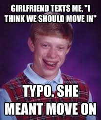 Badluck Brian Meme - bad luck brian meme guy