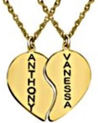 engraved pendants slash prices on engraved couples heart pendants in 14k yellow gold