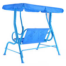 costzon kids porch swing 2 person patio seat with canopy ebay