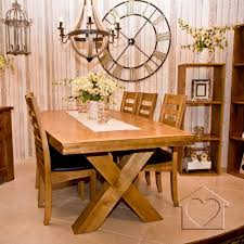 plank oak oval fixed 2 4m dining table with cross leg 669 00