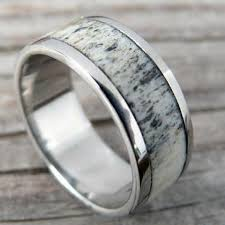 deer antler wedding band wood deer antler rings northernroyal