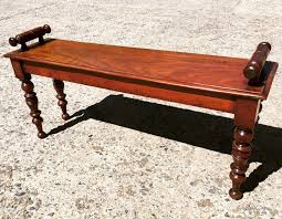 Window Seat Bench - victorian mahogany window seat bench in a nutshell