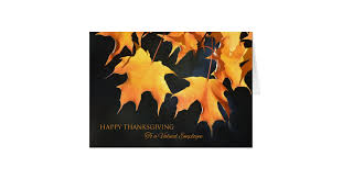 employees thanksgiving cards maple leaves zazzle