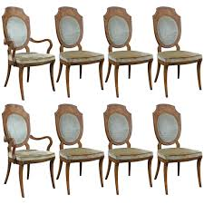stunning set of eight burl dining chairs by mastercraft