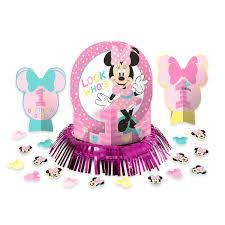 minnie mouse 1st birthday minnie mouse 1st birthday table decorating kit shopdisney