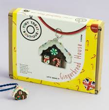 gingerbread house jewellery craft kit by tiny treat boutique