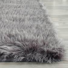 ideas fake bear skin rug cowhide rugs ikea grey faux
