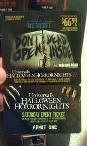 halloween horror nights cheap tickets behind the thrills billboards show off walking dead for
