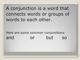 coordinating conjunctions 1 4th grade