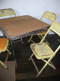 children s card table and folding chairs 84 best very vtg kitchen tableschairs kid s images on pinterest