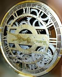 steampunk wall clock large wall clock bike gift for men steampunk