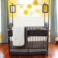 Crib Bedding Bale Black And White Stripe Crib Cradle Bedding Bumper By Siennachic