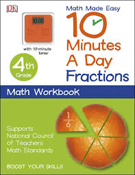 fractions math 10 minutes a day fractions fourth grade math made easy dk