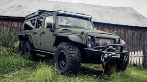 jeep indonesia crazy 6 wheeled jeep wrangler tomahawk a made in china beast