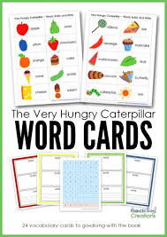 Words Cards The Very Hungry Caterpillar Word Cards Free Printable