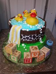 rubber ducky baby shower cake cakecentral com