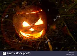 illuminated halloween turnip jack o lantern to ward off evil