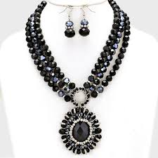 black beaded pendant necklace images Necklaces jaebee jewelry long necklaces layered necklaces jpg
