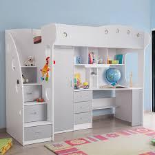 lit combin avec bureau lit combiné avec bureau et rangement couchage 90x190 cm combal