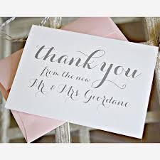 creative wedding thank you cards brides