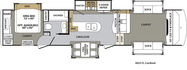 forest river cardinal floor plans fifth wheel forest rv dealer cardinal 3825fl floorplan