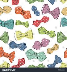 bow tie seamless patterncartoon colorful bow stock vector