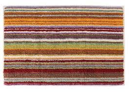 missoni home jazel 159 orange u0026 green striped bath rug