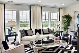 MI Homes Of DC Maryland  Crown Picasso Model Contemporary - Black and white family room