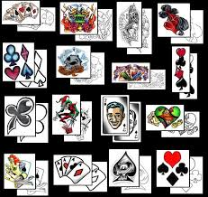 playng card tattoos what do they mean playng card tattoos