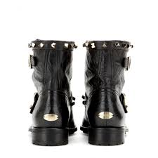 youth motorcycle boots jimmy choo youth embellished leather biker boots in black lyst
