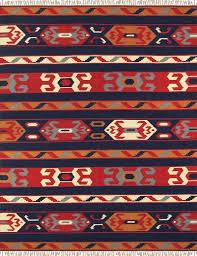 Woven Cotton Area Rugs Pasargad Anatolian Woven Cotton Blue Orange Area Rug