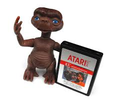 1980s et and atari 2600 video game vintage plastic doll