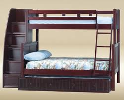 Trundle Bunk Beds With Stairs And Twin Over Full Bunk Bed With - White bunk beds twin over full with stairs