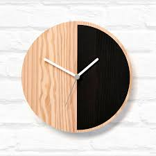half wooden wall clock by byshop notonthehighstreet com