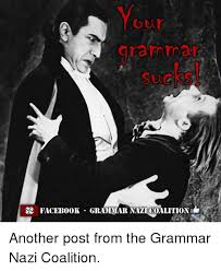Grammer Nazi Meme - grammar facebook grammar nazi coalition another post from the
