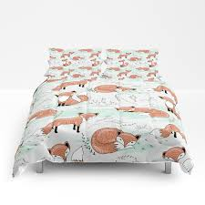 Etsy Bedding Duvet Fox Bedding Comforter Set Or Duvet Cover Bedding Set