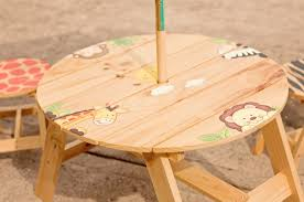 Kids Wood Table And Chair Set Fantasy Fields Kids 3 Piece Round Table And Chair Set U0026 Reviews