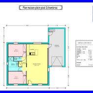 plan maison plain pied 2 chambres garage plan de maison 2 chambres plan habill etage maison maison moderne
