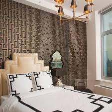 greek key wallpaper contemporary bedroom artistic designs