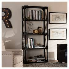 Distressed Black Bookcase 71