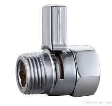 bathroom accessories brass shut off valve chrome finish stop water