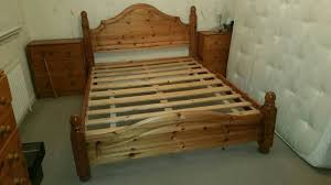Solid Pine Bed Frame Solid Pine Bed Frame And Two Chest Of Drawers In Motherwell