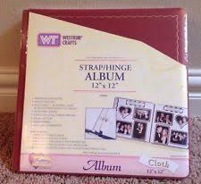 Scrapbook Albums 12x12 Westrim Crafts Strap Hinge Scrapbook Album 12x12 Purple Cloth Ebay