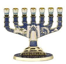 jerusalem menorah jerusalem enamel blue menorah menorah