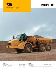 kw truck equipment 735 articulated truck caterpillar equipment pdf catalogue